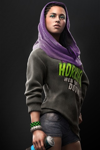 iPhone Wallpaper Girl in Watch Dogs 2