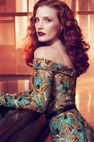 iPhone Wallpaper Jessica Chastain 01
