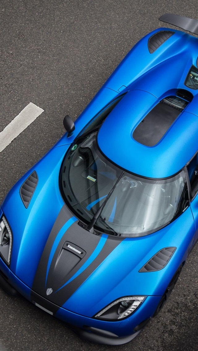 Wallpaper Koenigsegg Agera R Blue Supercar Top View 1920x1200 Hd