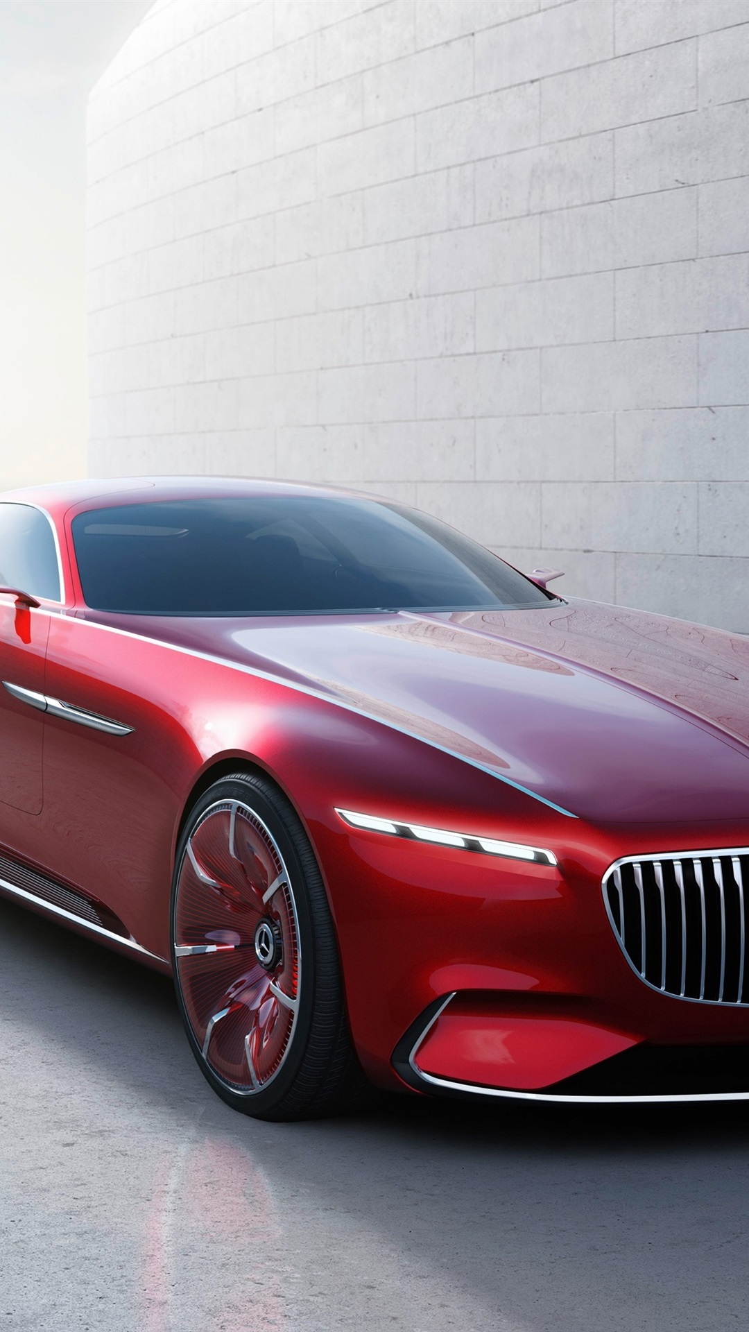 Wallpaper Mercedes Benz Maybach 6 Red Color Car 3840x2160 Uhd 4k