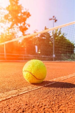 iPhone Wallpaper Sunny day, summer, tennis, stadium, ground