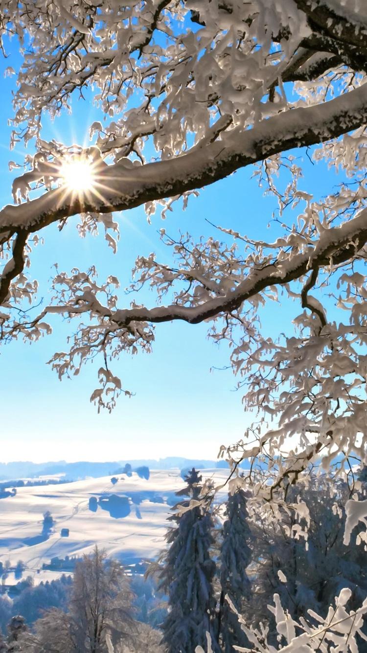 Sunrise Sunset Sunrise Clouds Snow Mountains Sky Winter Sun Rays