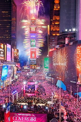 iphone wallpaper times square in new york city usa night happy new year