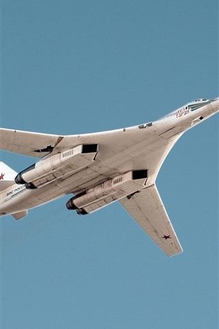 iPhone Wallpaper Tu-160 supersonic strategic bomber