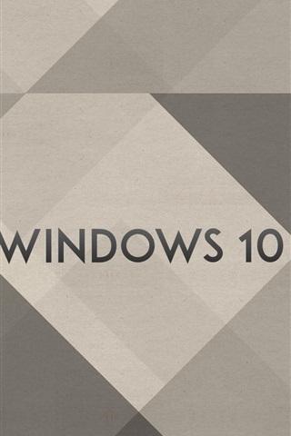iPhone Papéis de Parede Windows 10 logotipo, fundo simples
