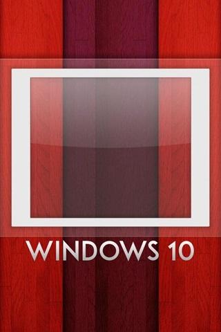 iPhone Papéis de Parede sistema Windows 10, logotipo, fundo do arco-íris, placa de madeira