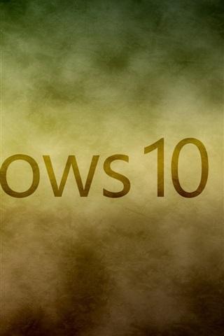 iPhone Papéis de Parede Logotipo do Windows 10 do sistema, nuvens brancas fundo