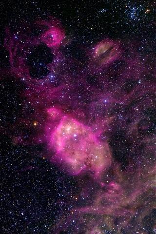 iPhone Wallpaper Beautiful space, universe, stars, purple style