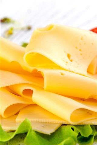 iPhone Wallpaper Cheese, tomatoes, breakfast