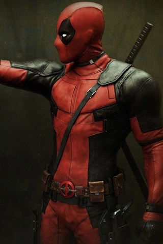 iPhone Wallpaper Deadpool and Teddy Bear