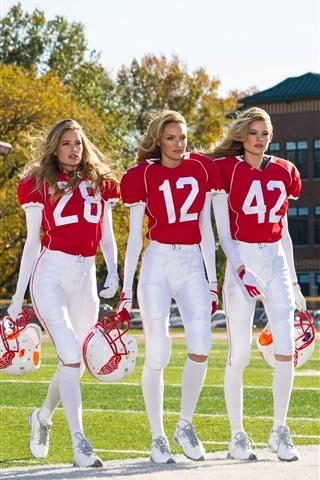 iPhone Wallpaper Fashion models, sportswear, five girls