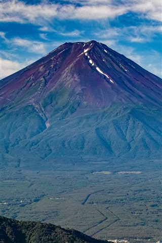 iPhone Wallpaper Fuji mountain, volcano, Japan nature landscape
