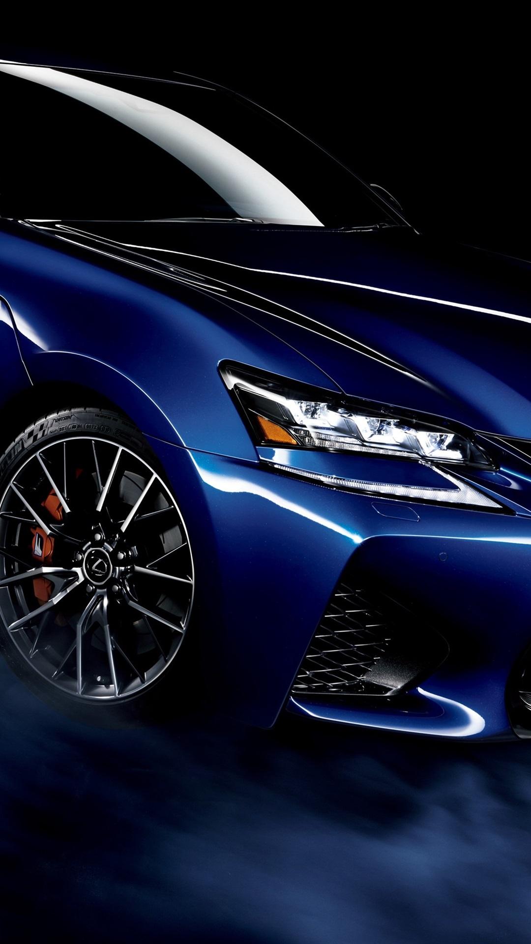 レクサスgs F青い車 煙 黒の背景 1080x19 Iphone 8 7 6 6s Plus 壁紙 背景 画像
