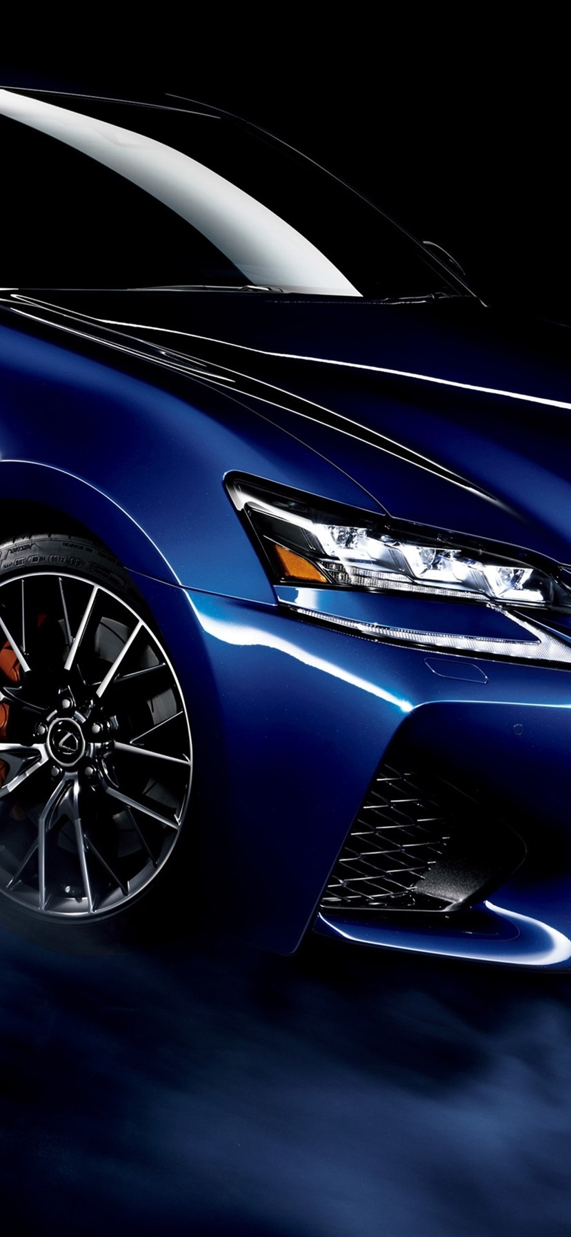 Wallpaper Lexus Gs F Blue Car Smoke Black Background 3840x2160 Uhd