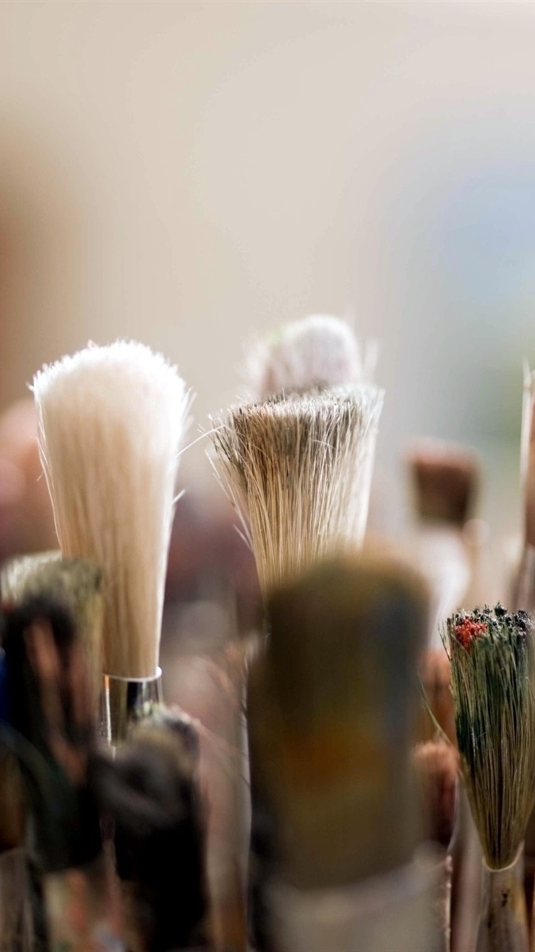 Many Brushes For Makeup 750x1334 Iphone 8 7 6 6s Wallpaper
