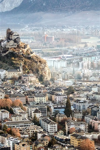 Sion Switzerland City Top View 640x1136 Iphone 55s5cse