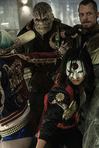 iPhone Wallpaper Suicide Squad 2016, movie screenshot