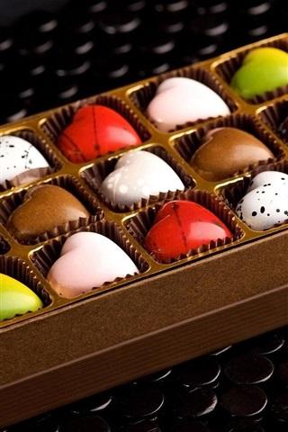 iPhone Papéis de Parede doces doces, chocolate, presente