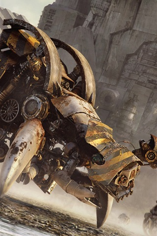 iPhone Wallpaper Tamas Gyerman, machinery baneling, creative design