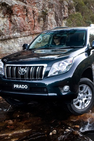iPhone Wallpaper Toyota Prado SUV car