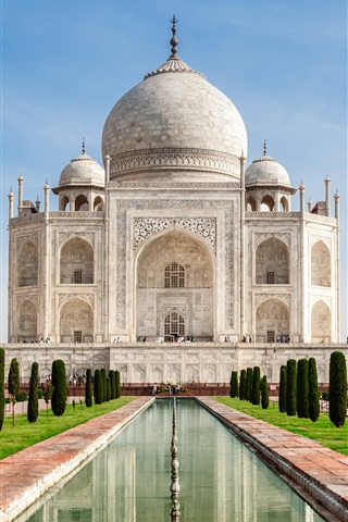 iPhone Papéis de Parede Viagem à Índia, o Taj Mahal, castelo