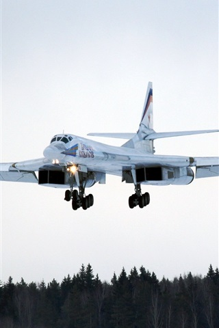 iPhone Wallpaper Tu-160 long-range bombers