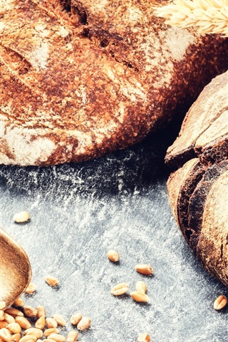 iPhone Wallpaper Bread, wheat, grain, food photography
