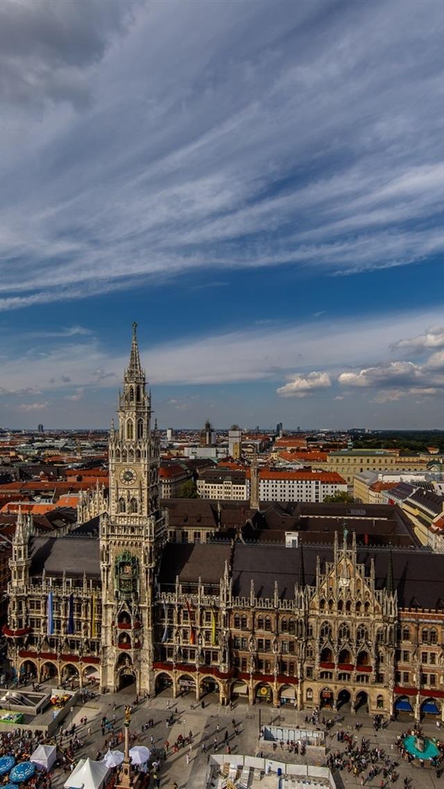街並み 住宅 通り 雲 ミュンヘン ドイツ 640x1136 Iphone 5 5s 5c Se 壁紙 背景 画像
