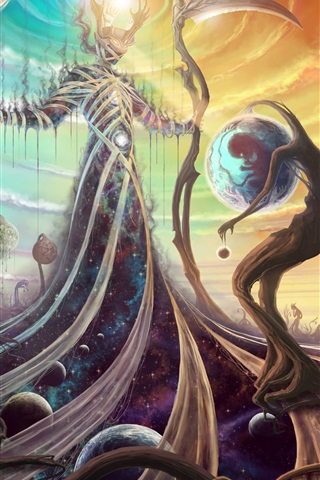 iPhone Papéis de Parede Criador, Deus, universo, espaço, design de arte criativa