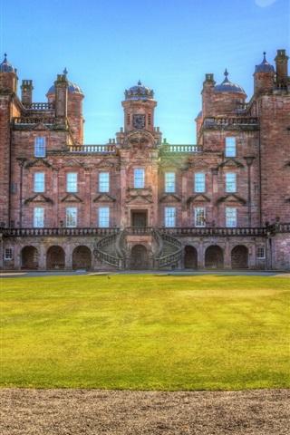 iPhone Wallpaper Drumlanrig Castle, lawn, Scotland