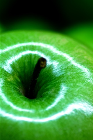 iPhone Wallpaper Green apple macro photography