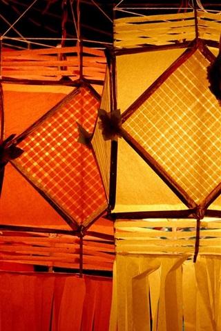iPhone Wallpaper Lanterns, night
