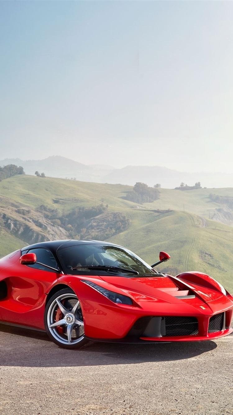 Mclaren Black Supercar And Ferrari Laferrari Red Supercar 750x1334
