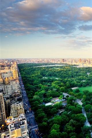 iPhone Wallpaper New York City Center Park, USA