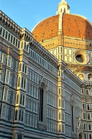 iPhone Wallpaper Santa Maria del Fiore Cathedral, Italy, Florence