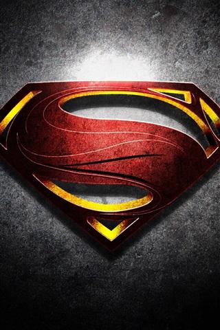 iPhone Wallpaper Superman logo