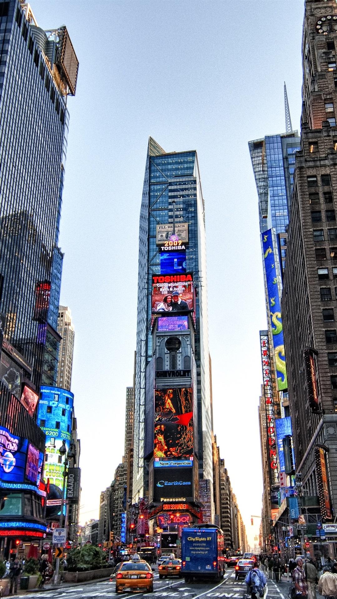 Times Square Nueva York Estados Unidos Vista A La Ciudad