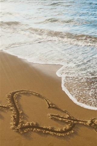 Arrow Through Heart Beach Sea Waves 750x1334 Iphone 8 7 6
