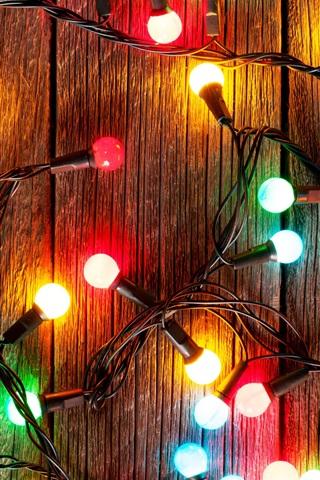 iPhone Wallpaper Colorful festival lights, light bulb, decoration