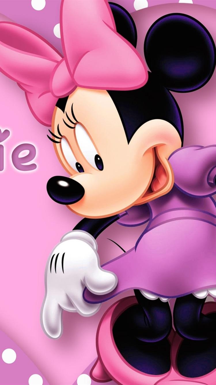 ディズニー漫画スター ミニーマウス 750x1334 Iphone 8 7 6 6s 壁紙
