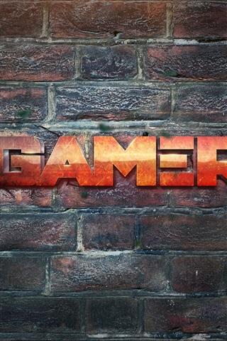 iPhone Wallpaper Gamer, wall, creative design
