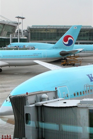 iPhone Wallpaper Korean Air, Incheon International Airport
