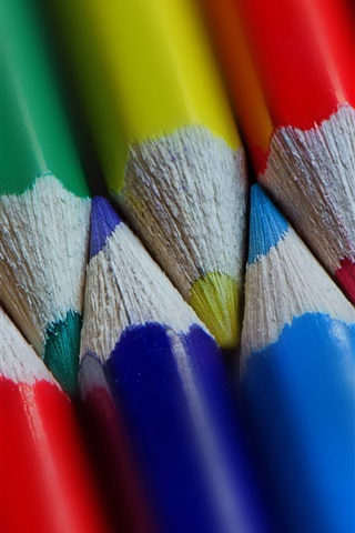 iPhone Wallpaper Many colorful pencils