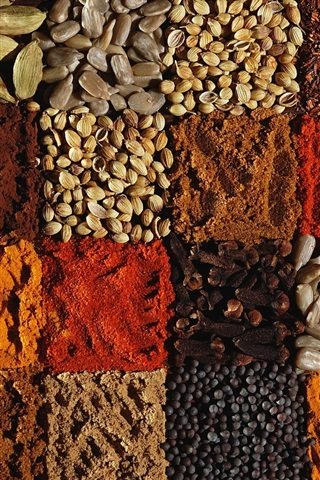 iPhone Wallpaper Many kinds of spices
