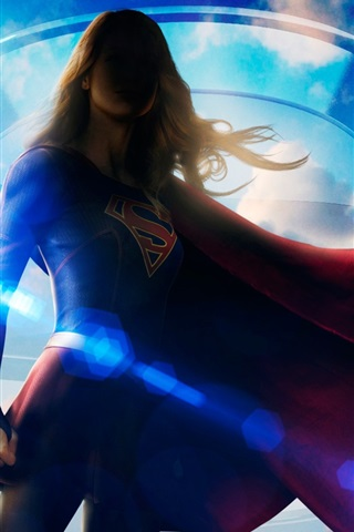 iPhone Wallpaper Melissa Benoist, Supergirl, DC Comics