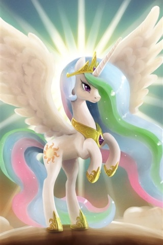 iPhone Wallpaper My Little Pony, princess, wings, art drawing
