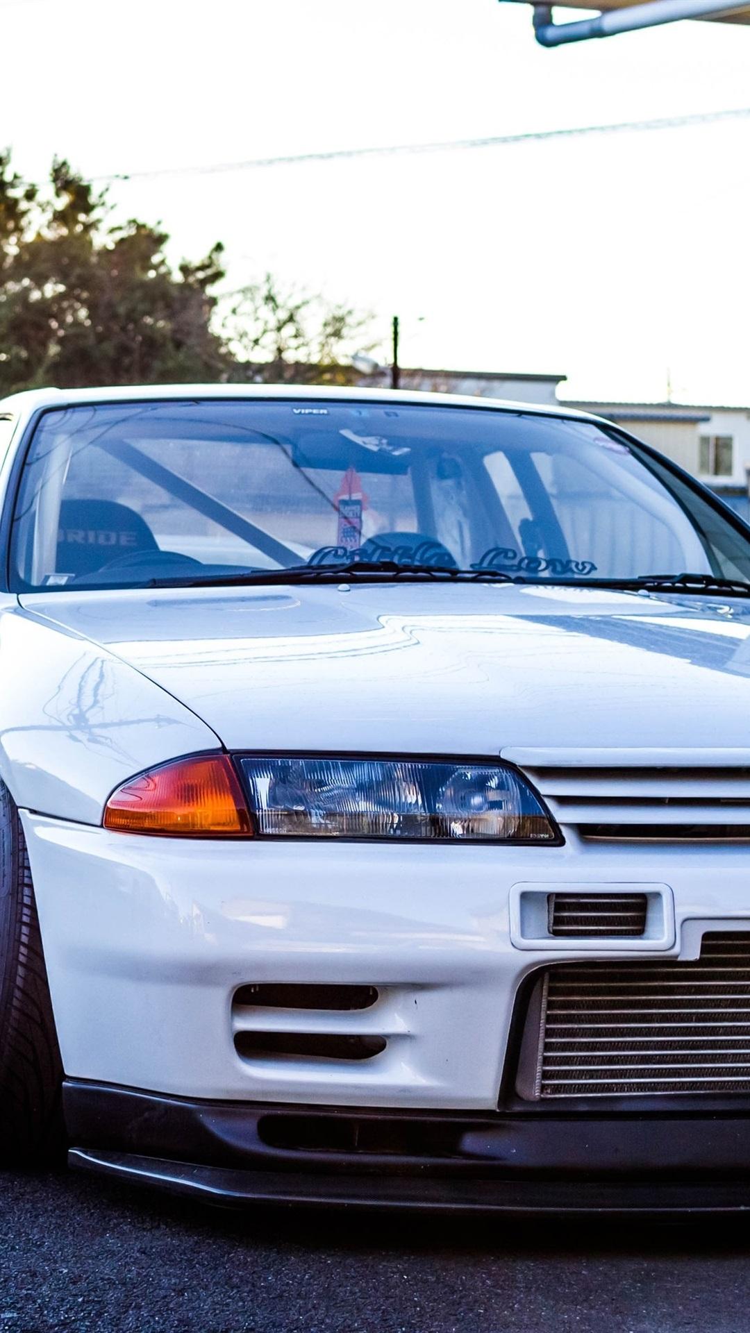 Nissan Gtr R32 Skyline White Classic Car 1080x1920 Iphone 8