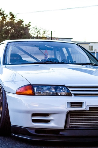 Nissan Gtr R32 Skyline White Classic Car 1080x1920 Iphone 8