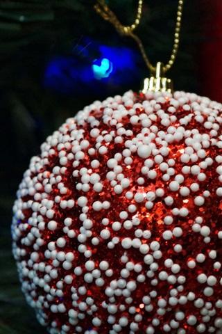 iPhone Papéis de Parede Vermelho, bola, bola, close-up, branca, decoração