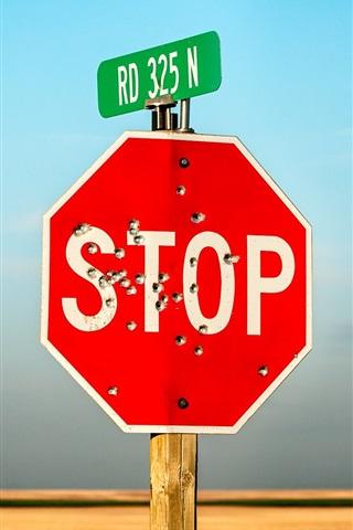 iPhone Wallpaper Stop sign